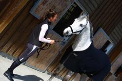 Staldeken Polar 200 zwart - pony en paard - 406323