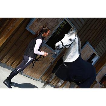 Chemise d'écurie équitation cheval et poney POLAR 200 noir - 406323