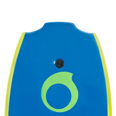 BODYBOARD 100 bleu 1,65m-1,85m 42_QUOTE_ avec semelle de glisse et leash