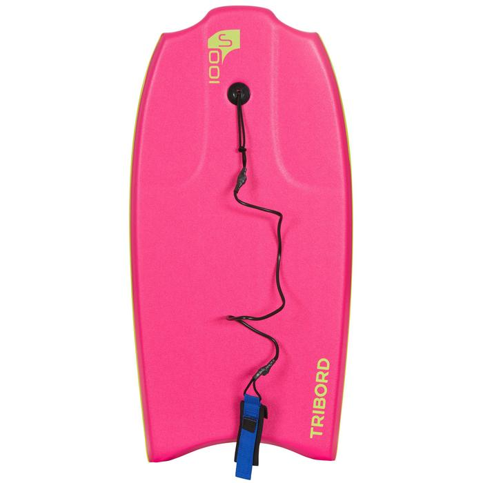 "Bodyboard 100 S (35"")  avec semelle de glisse et leash. - 406484"