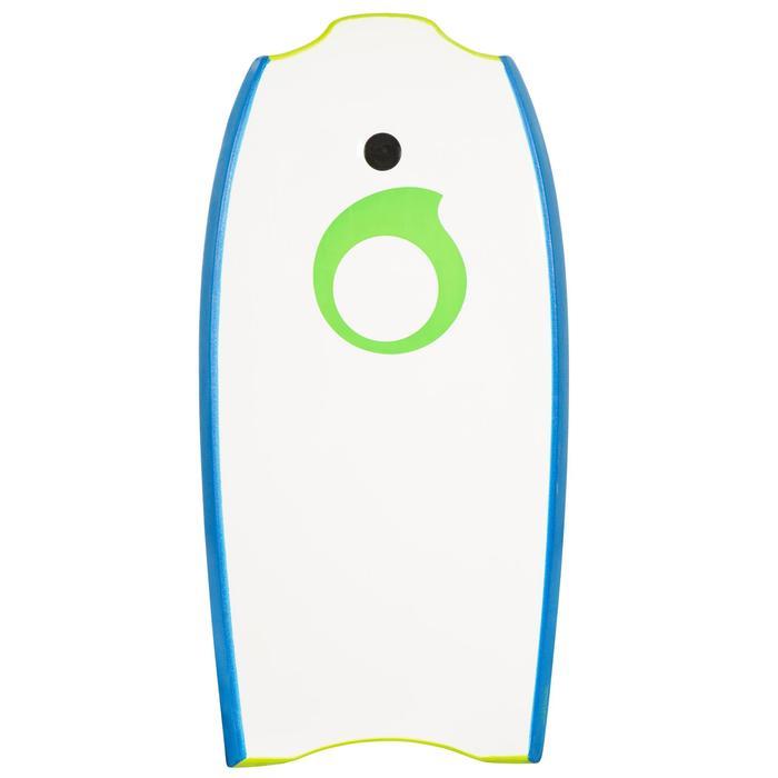 """Bodyboard 100 35"""" Kinder 6–12 mit Slick (Gleitfläche) und Leash grün"""