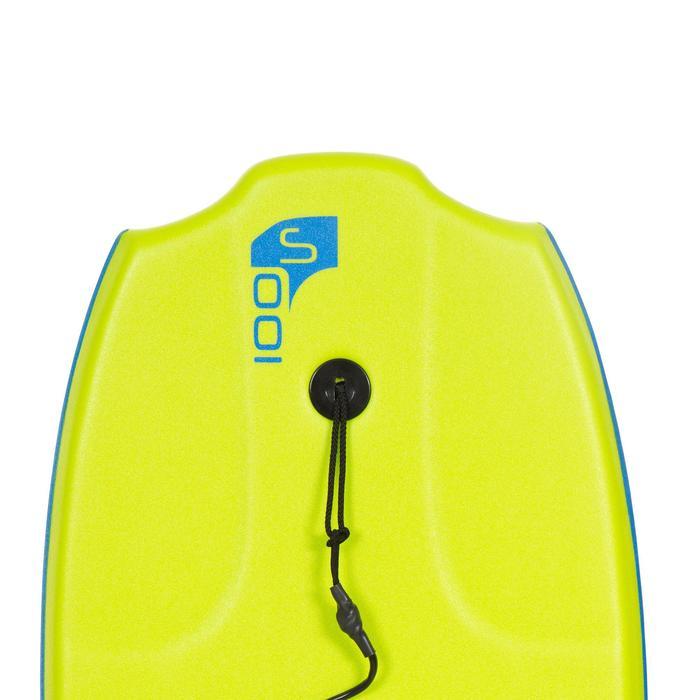 """Bodyboard 100 S (35"""") groen met slick en leash."""