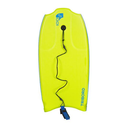 """Bodyboard 100 S (35"""") groen met slick en leash. - 406508"""