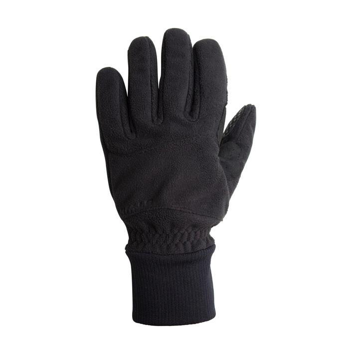 冬季自行車運動刷毛手套100 - 黑色