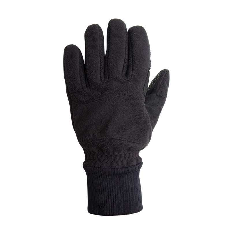 COLD WEATHER ROAD CYCLING GLOVES Cycling - RC 100 Winter Fleece Cycling Gloves - Black TRIBAN - Clothing
