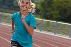 T-shirt Run Dry voor kinderen, voor hardlopen - 407221