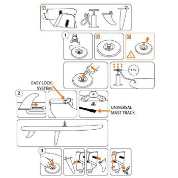 Planche à voile gonflable 320L adaptée à l'apprentissage du windsurf. - 407667