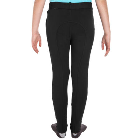 100 Kids' Horse Riding Jodhpurs - Black