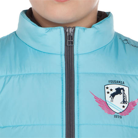 Safy Kids' Riding Gilet - Turquoise