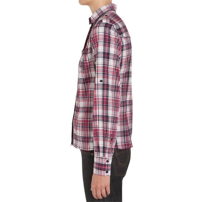 Chemise manches longues à carreaux équitation femme SENTIER rose et blanc - 408795