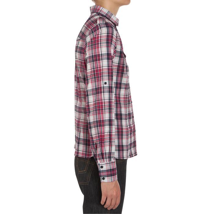 Chemise manches longues à carreaux équitation femme SENTIER rose et blanc - 408797