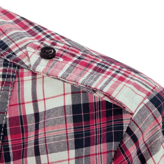 Chemise manches longues à carreaux équitation femme SENTIER rose et blanc - 408802