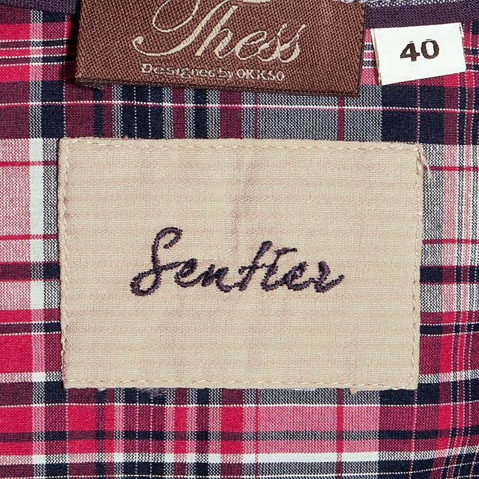 Chemise manches longues à carreaux équitation femme SENTIER rose et blanc - 408803