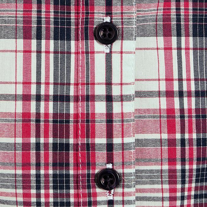 Chemise manches longues à carreaux équitation femme SENTIER rose et blanc - 408805