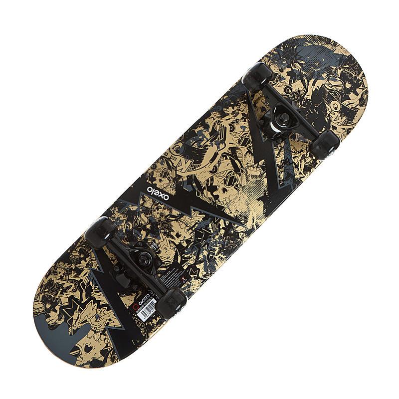 Skateboard enfant 5 à 7 ans MID100 SKULL
