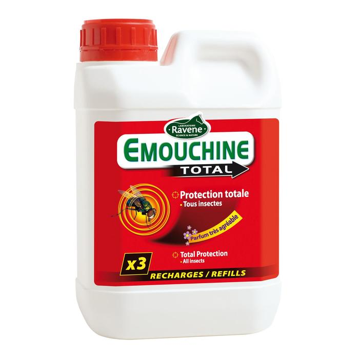 Navulling insectenwerend middel paarden/pony's Emouchine Total 1,5 l