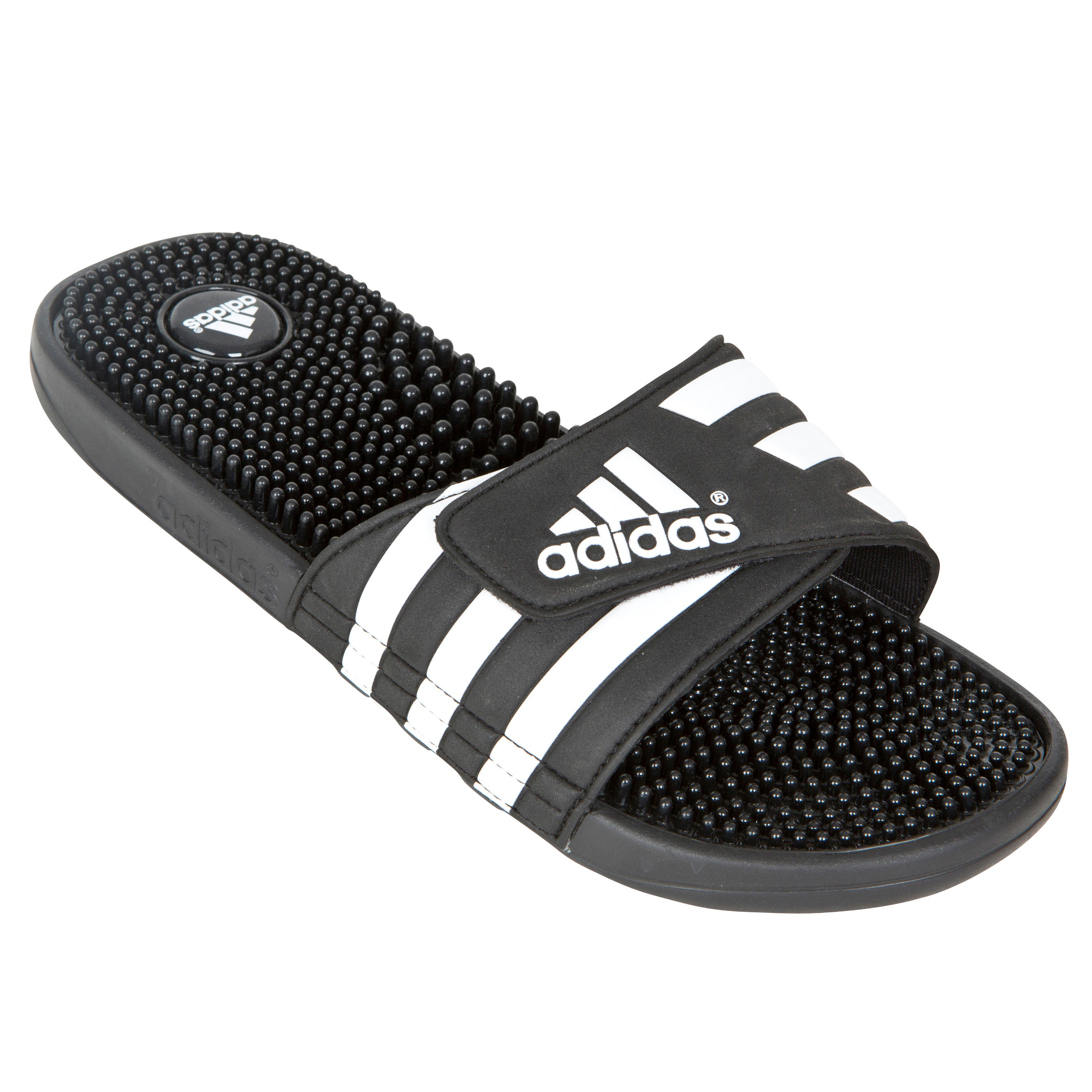 Slippers Adidas Adissage heren zwart wit