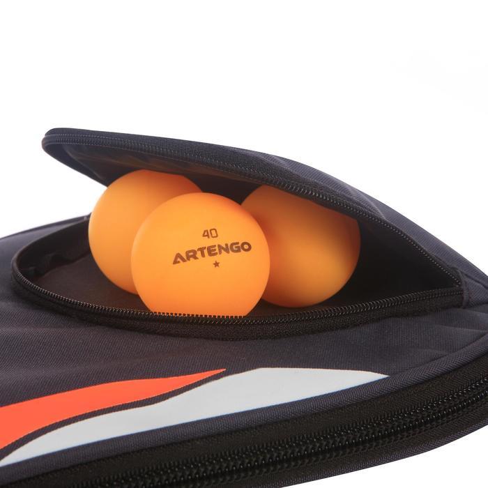 Tafeltennisbathoes FC 710 grijs en oranje