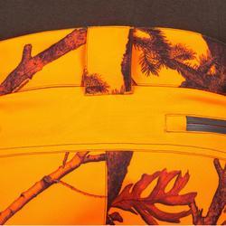 Pantalon Caza Solognac Supertrack 50 Resistente Antidesgarros Naranja Fluo