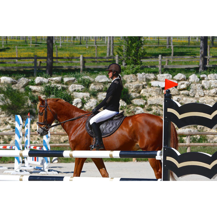 Fouganza tapis de selle quitation cheval tinckle decathlon - Decathlon equitation tapis ...