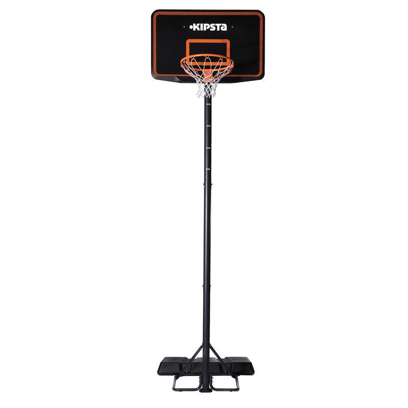 Aro de basketball niños/adultos B300 negro naranja. De 2,20 m a 3,05 m.