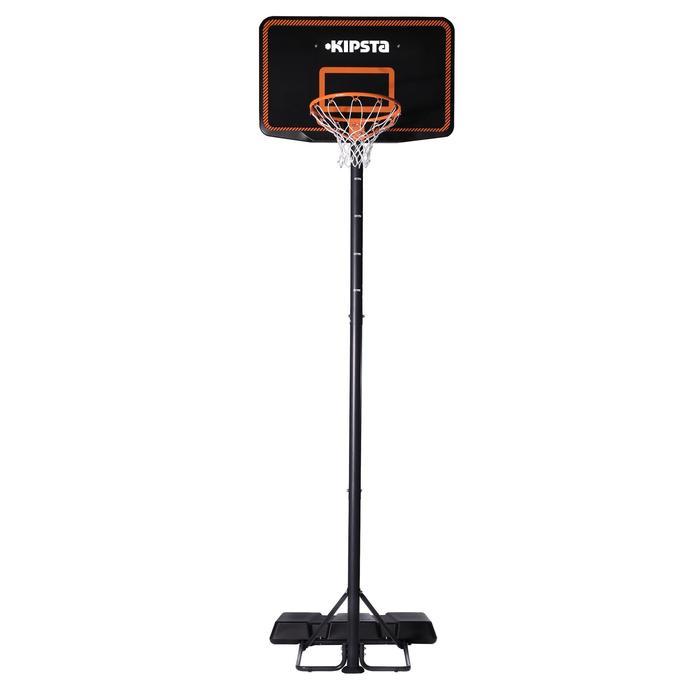 Panier de Basket enfant/adulte B300 noir orange. 2,20m à 3,05m. - 410615