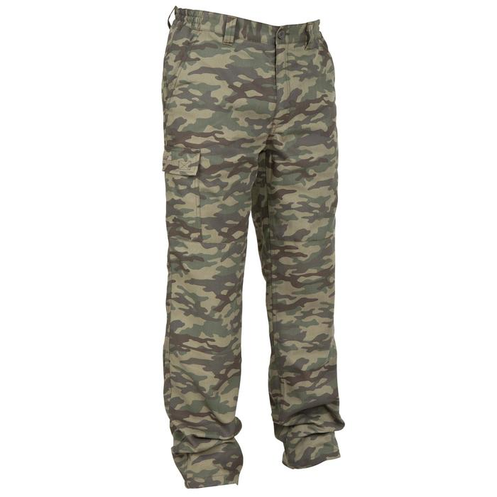 Hose warm 100 camouflage grün