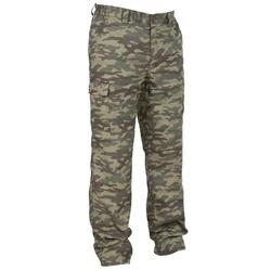 WARM TROUSERS 100 CAMO GREEN