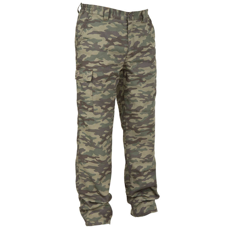 WARM CLOTHING Shooting and Hunting - 100 TROUSERS CAMO SOLOGNAC - Hunting and Shooting Clothing