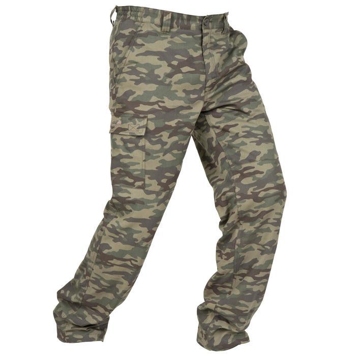 Pantalón caza 100 camuflaje