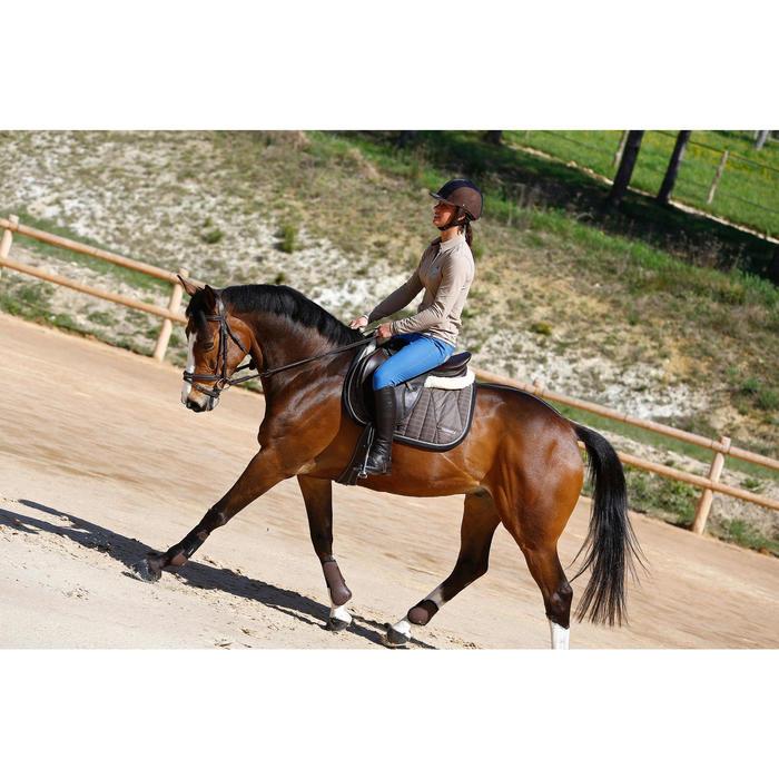 Leren minichaps ruitersport voor volwassenen Paddock 700 bruin