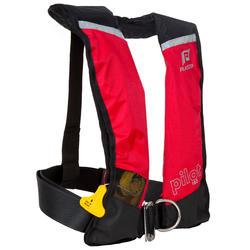 Zelfopblazend reddingsvest volwassenen Pilot 165N Hammar met rood/zwart harnas - 411221