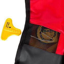 Zelfopblazend reddingsvest volwassenen Pilot 165N Hammar met rood/zwart harnas - 411227