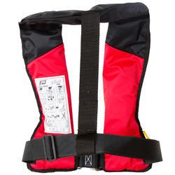Zelfopblazend reddingsvest volwassenen Pilot 165N Hammar met rood/zwart harnas - 411231