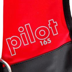 Zelfopblazend reddingsvest volwassenen Pilot 165N Hammar met rood/zwart harnas - 411232
