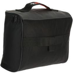 Schoenentas 10 liter zwart/grijs/oranje - 411316