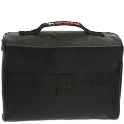 Schoenentas 10 liter zwart/grijs/oranje - 411318