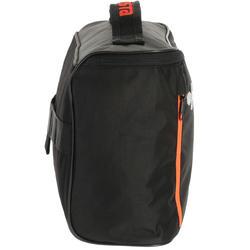 Schoenentas 10 liter zwart/grijs/oranje - 411319
