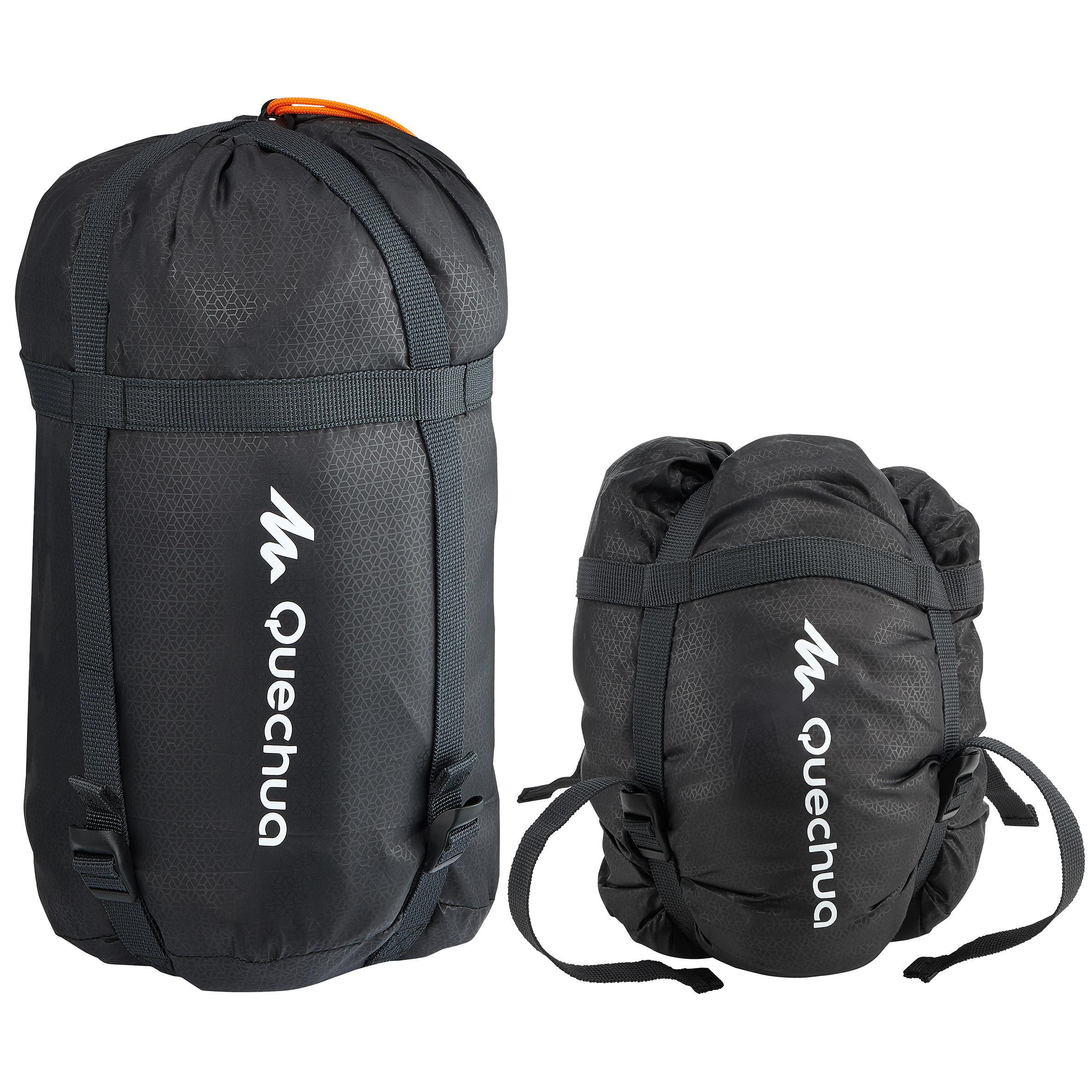 Housse de compression de sac de couchage noire