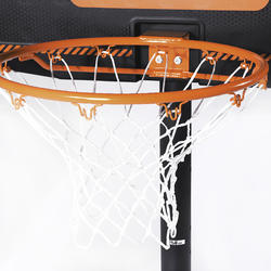 B300 Kids'/Adult Basketball Basket - Black/Orange2.20 m to 3.05 m.