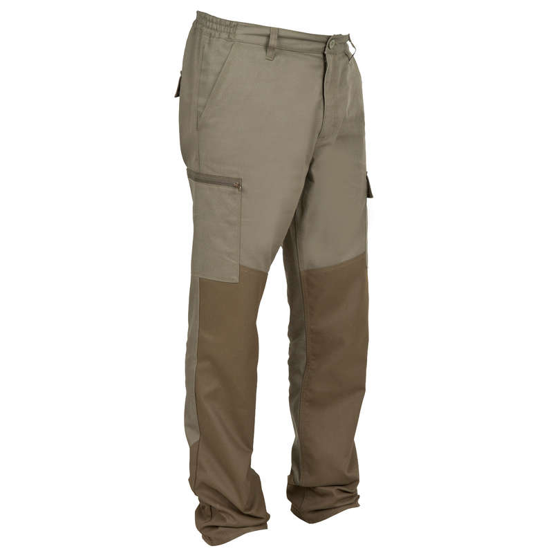 REINFORCED CLOTHING Shooting and Hunting - STEPPE 300 LINED TROUSERS GREEN SOLOGNAC - Hunting and Shooting Clothing