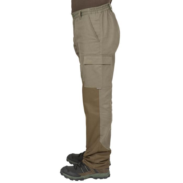 Pantalon chasse Steppe 300 renfort vert - 41185