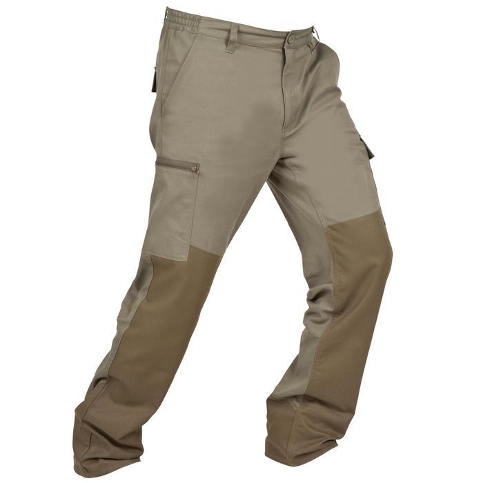 Pantalon chasse Steppe 300 renfort vert - 41192