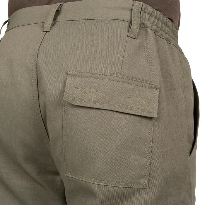 Pantalon chasse Steppe 300 renfort vert - 41207