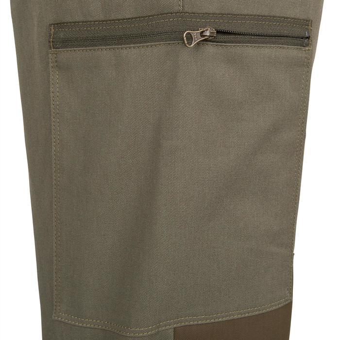 Pantalon chasse Steppe 300 renfort vert - 41208