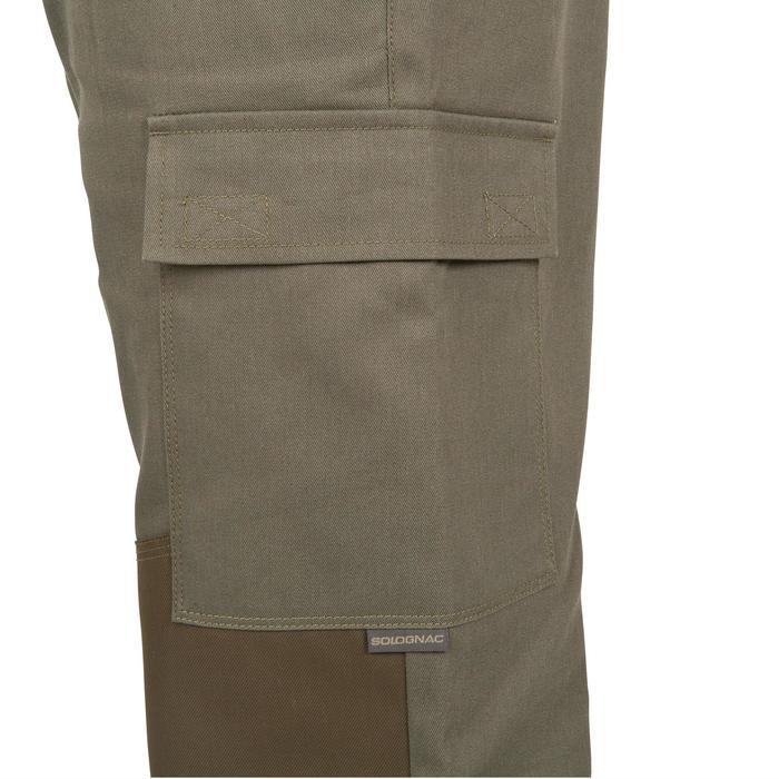 Pantalon chasse Steppe 300 renfort vert - 41210