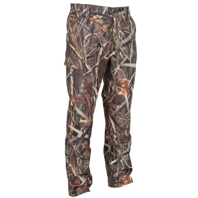 CAMOUFLAGE REEDS CLOTHING - TAIGA100 WATERPROOF TROUSERS CAMO SOLOGNAC