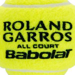 Tennisballen French Open All Court bipack 8 stuks geel - 412630