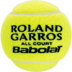 Tennisballen French Open All Court bipack 8 stuks geel - 412650