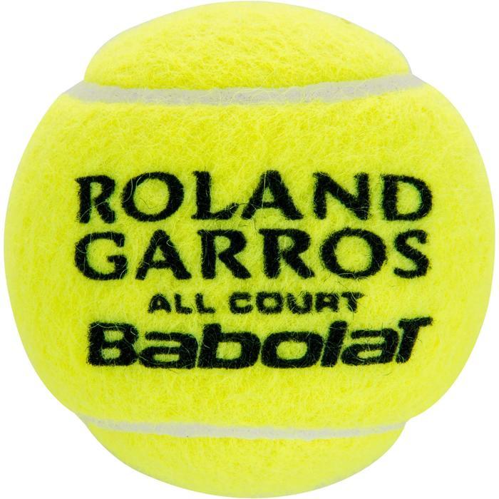BALLES DE TENNIS ROLAND GARROS ALL COURT LOT DE 4 JAUNE - 412658